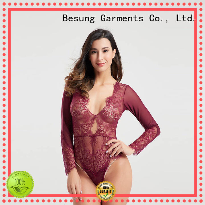 hollow hang underwear Besung Brand sheer bodysuit supplier