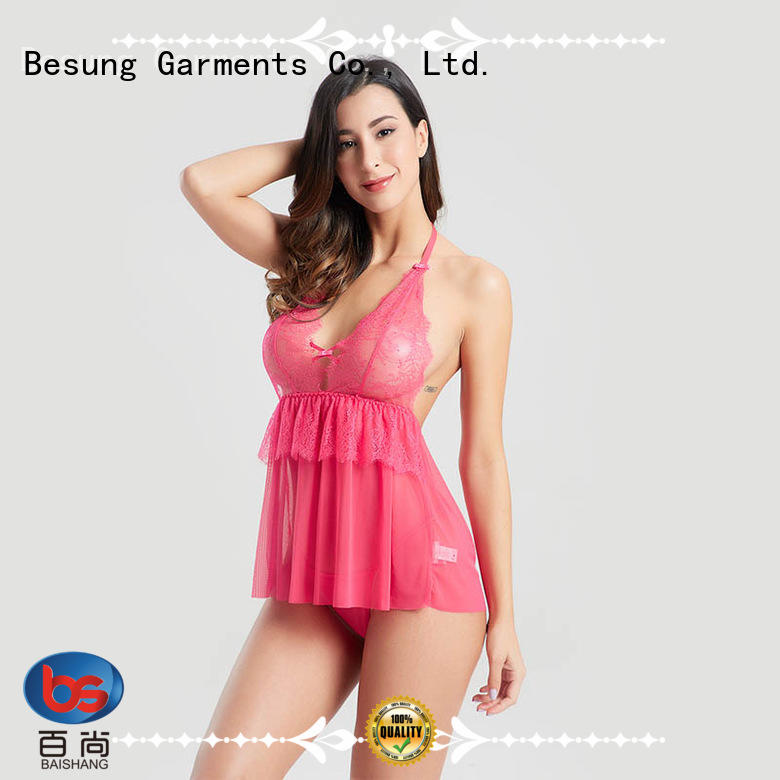 Besung new-arrival babydoll lingerie back for women