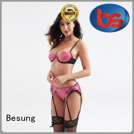 Besung low cost black lace lingerie quality for wife