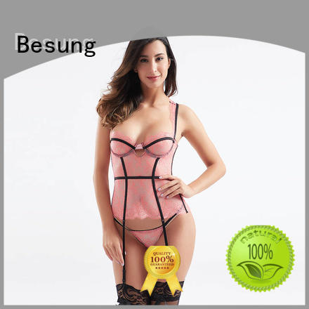 Besung transparent black corset at discount for hotel