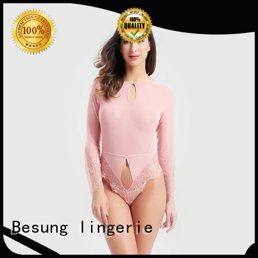 Besung purple sexy black bodysuit from manufacturer for home