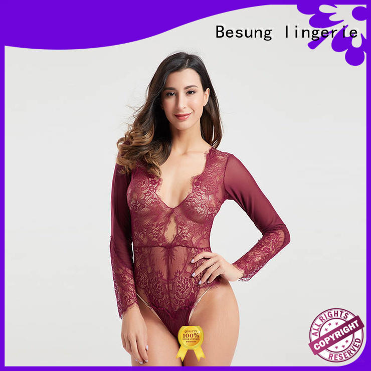 Besung low price blue lace bodysuit check now for women