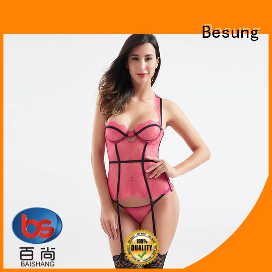New style sexy transparent lace corset BSQ186