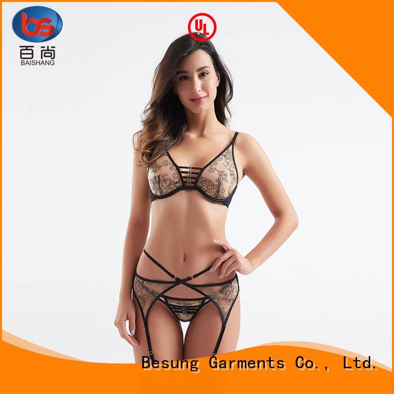 Besung threepiece ladies sexy nightwear lace for lover