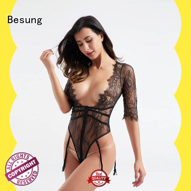 Besung backless sexy bodysuits women bodysuit for hotel