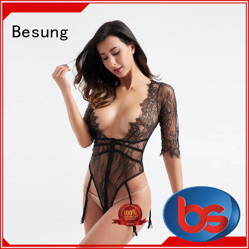 Besung hot-sale nude lace bodysuit from manufacturer for lover