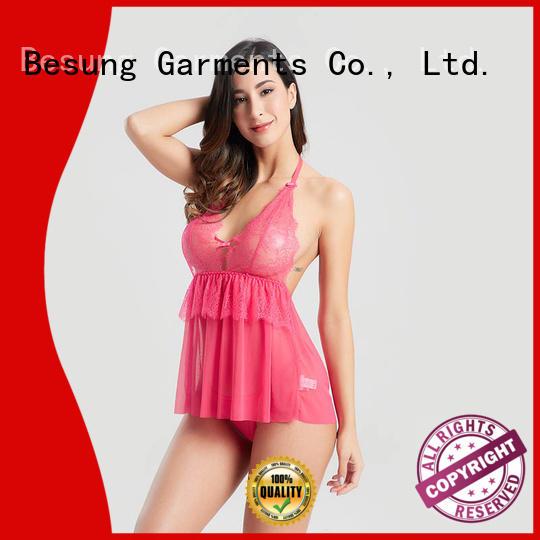 Sexy hot sale hang a neck buckle deep V sexy underwear BSQ165