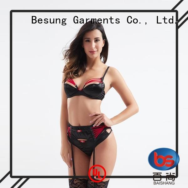 Besung neck sheer lingerie bulk production for lover