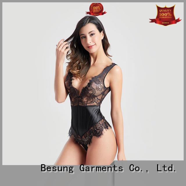 lingerie elegant plunge bodysuit Besung manufacture