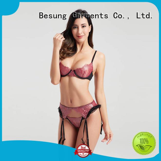 Besung design cute lingerie bulk production for hotel