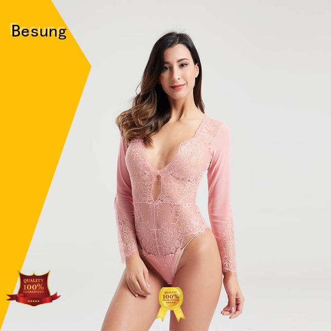 Besung backless sexy black bodysuit at discount for home