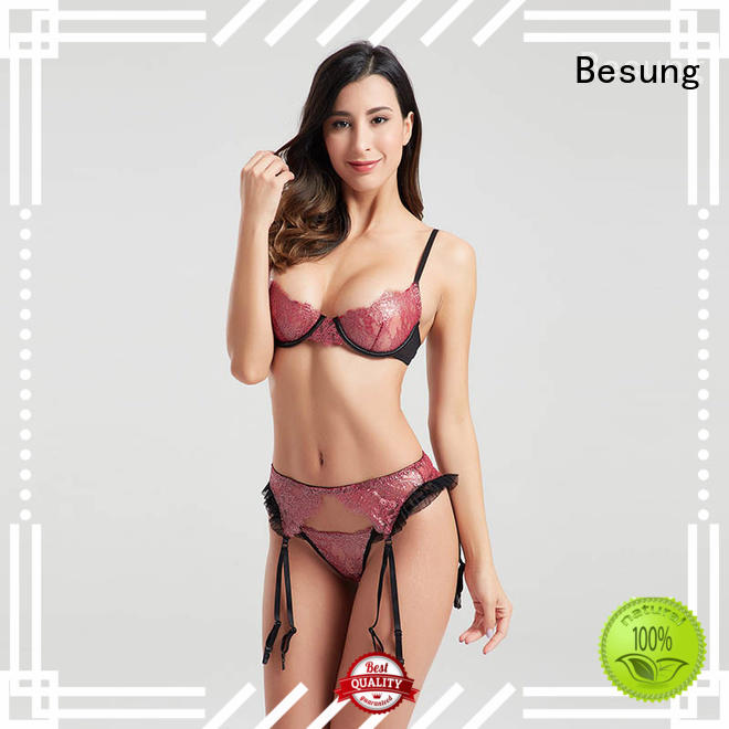 Besung hot-selling satin lingerie free design for lover