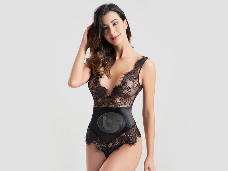 Besung back lace underwire bodysuit free design for wife-3