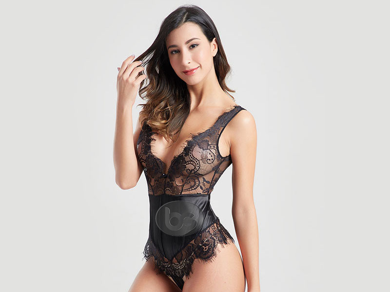 Besung back lace underwire bodysuit free design for wife-2