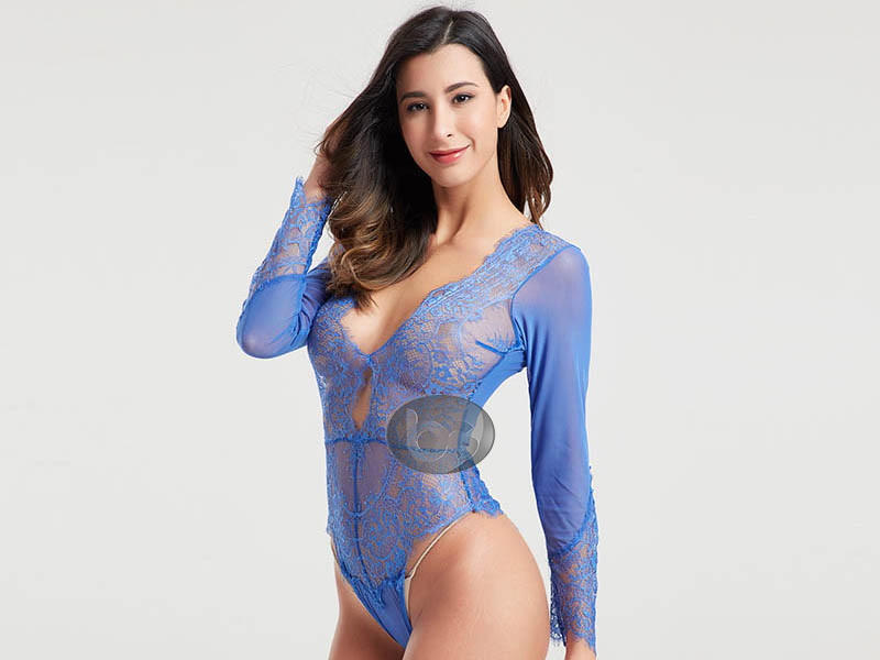 Besung dot lace body suits from manufacturer for women-3