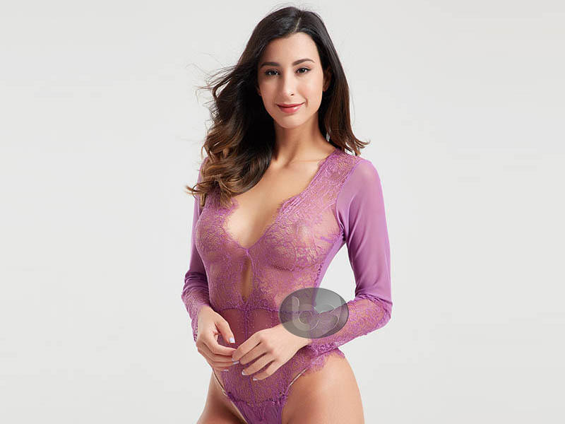 shaped hot sexy lingerie bodysuit for hotel