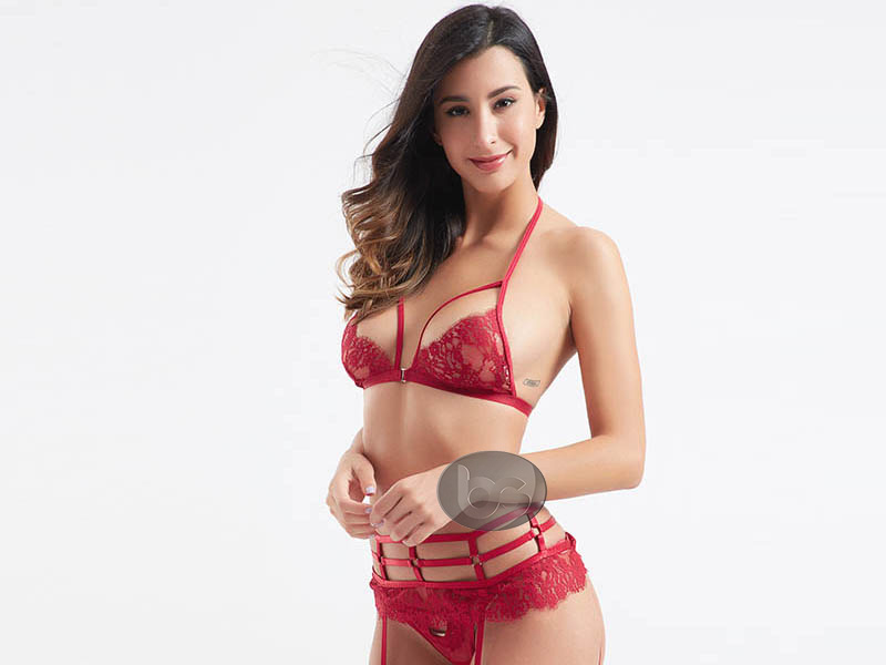 Besung contrast valentines lingerie bulk production for home-3