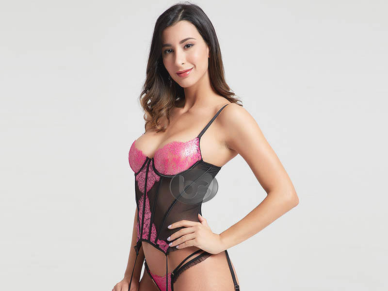 lace black corset top at discount for lover Besung