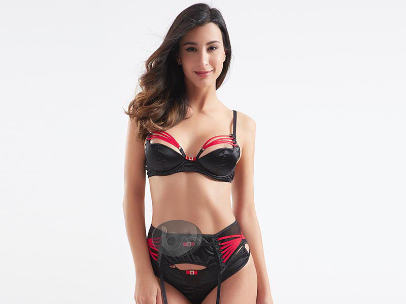 Besung unique sexy red lingerie set classical for lover-2