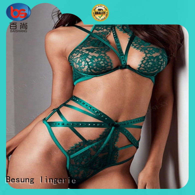 Besung out white lingerie lace for women