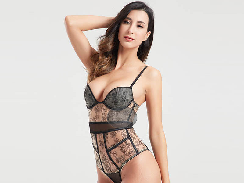 Lace black mesh decorative woven tape sexy corset BSQ168-3