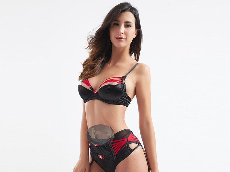 Besung unique sexy red lingerie set classical for lover-3