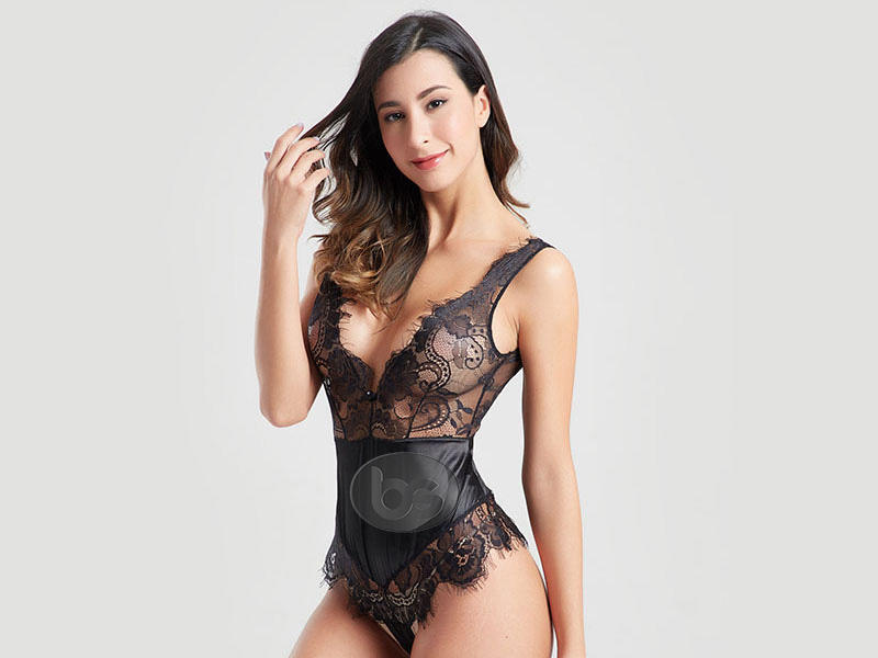 low price nude lace bodysuit elegant at discount for women-2
