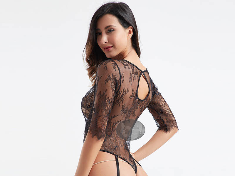 Besung unique plus size lace bodysuit buy now for wife-3
