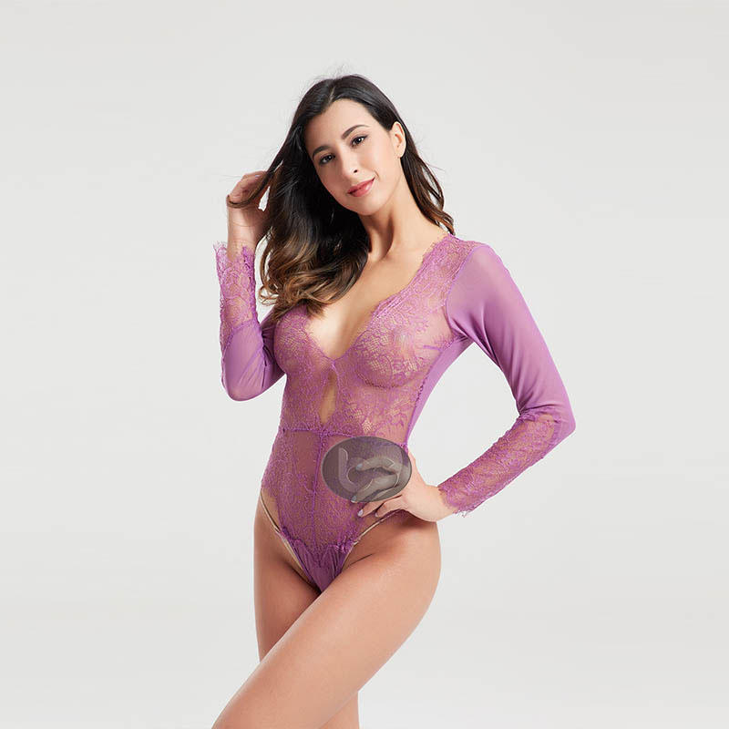 transparent hot pink bodysuit buy now for wife Besung-1