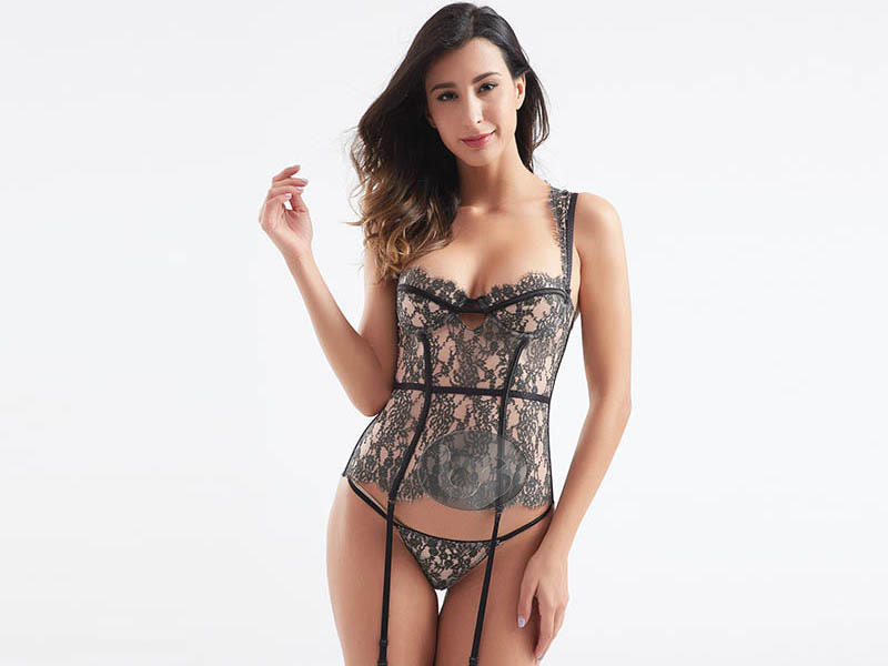 New style fabric transparent lace sexy corset BSQ186-3