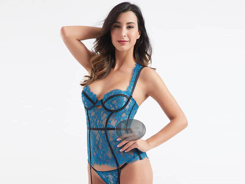 OEM & ODM lace symmetry sexy corset sets BSQ175-3